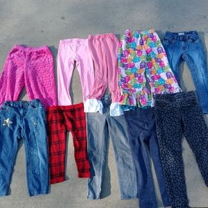 Bundle of 10 girls jeans and pants size 4